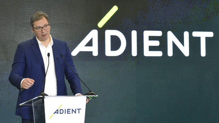 Aleksandar Vučič. Adient, Loznica